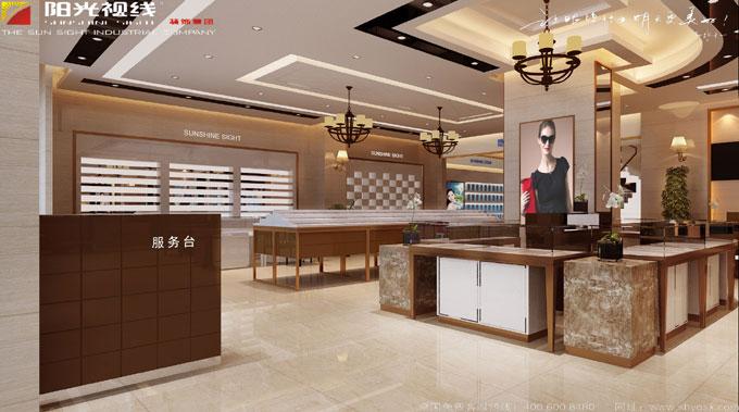河北唐山眼镜店服务台/岛柜装修设计图片